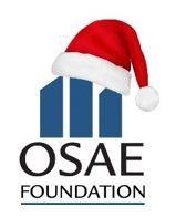 OSAEF Santa Hat Logo