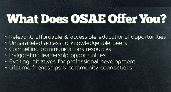 What OSAE Offers Our Members