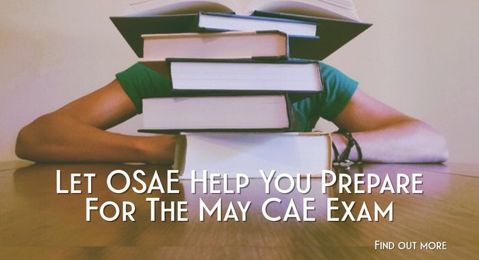 Register Today for the OSAE CAE Spring Study Sessions