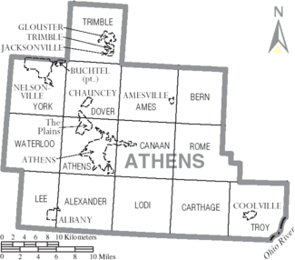 Athens County Ohio Map